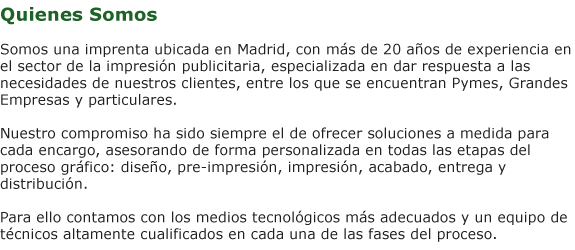 imprenta en madrid